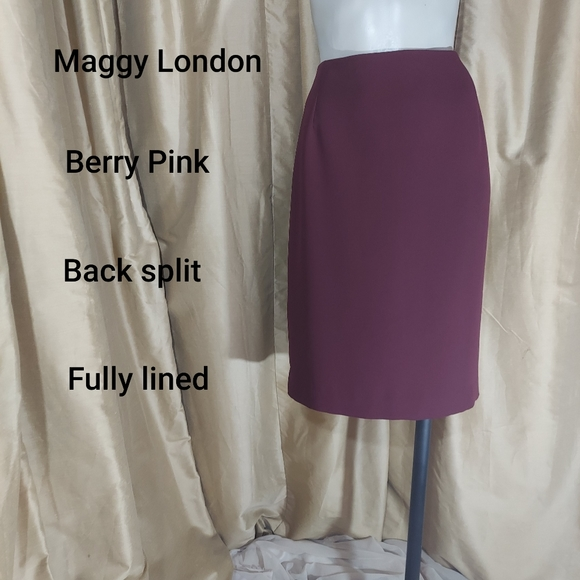 Maggy London Dresses & Skirts - Maggy London berry pink skirt size 10